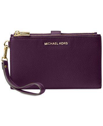f45fc5129256 MICHAEL Michael Kors Adele Double-Zip iPhone 7 Plus Wristlet