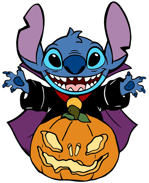 Clip Art Of Stitch Dressed Up For Halloween Liloandstitch Stitch Halloween Halloween Clipart Stitch Disney Halloween Clips