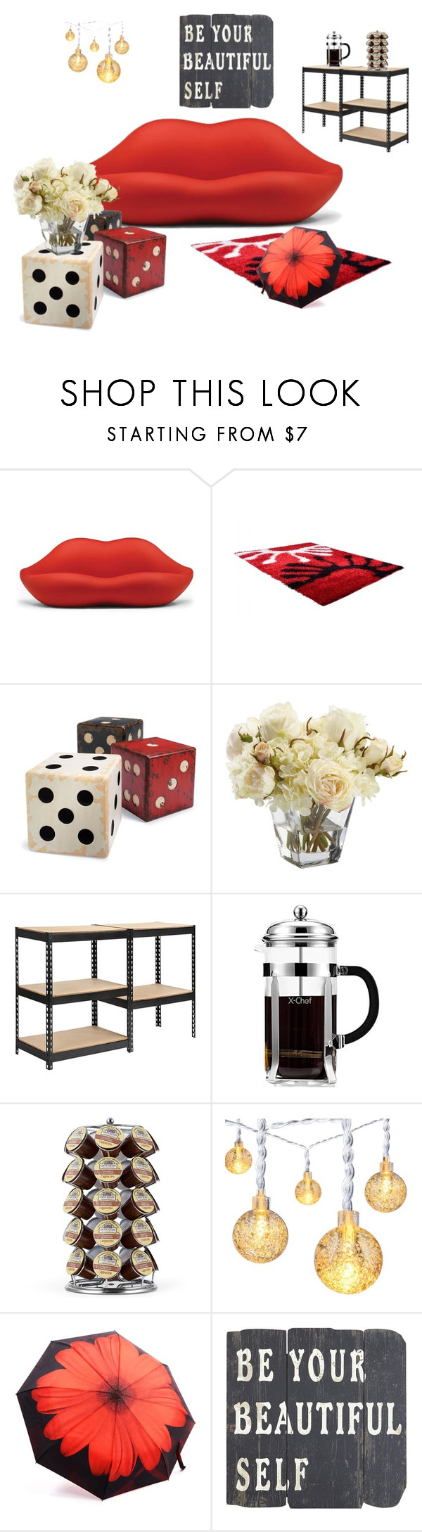 """Beautiful Decor"" by ioakleaf on Polyvore featuring interior, interiors, interior design, home, home decor, interior decorating, Heller, Grandin Road, Ethan Allen and Keurig"