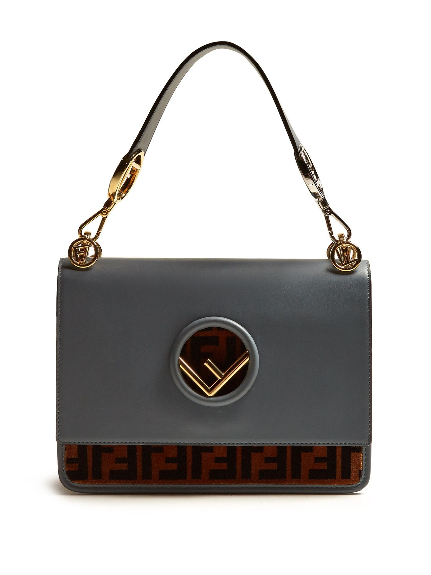 44a6c0f22e Kan I logo-print leather shoulder bag | Fendi | MATCHESFASHION.COM ...