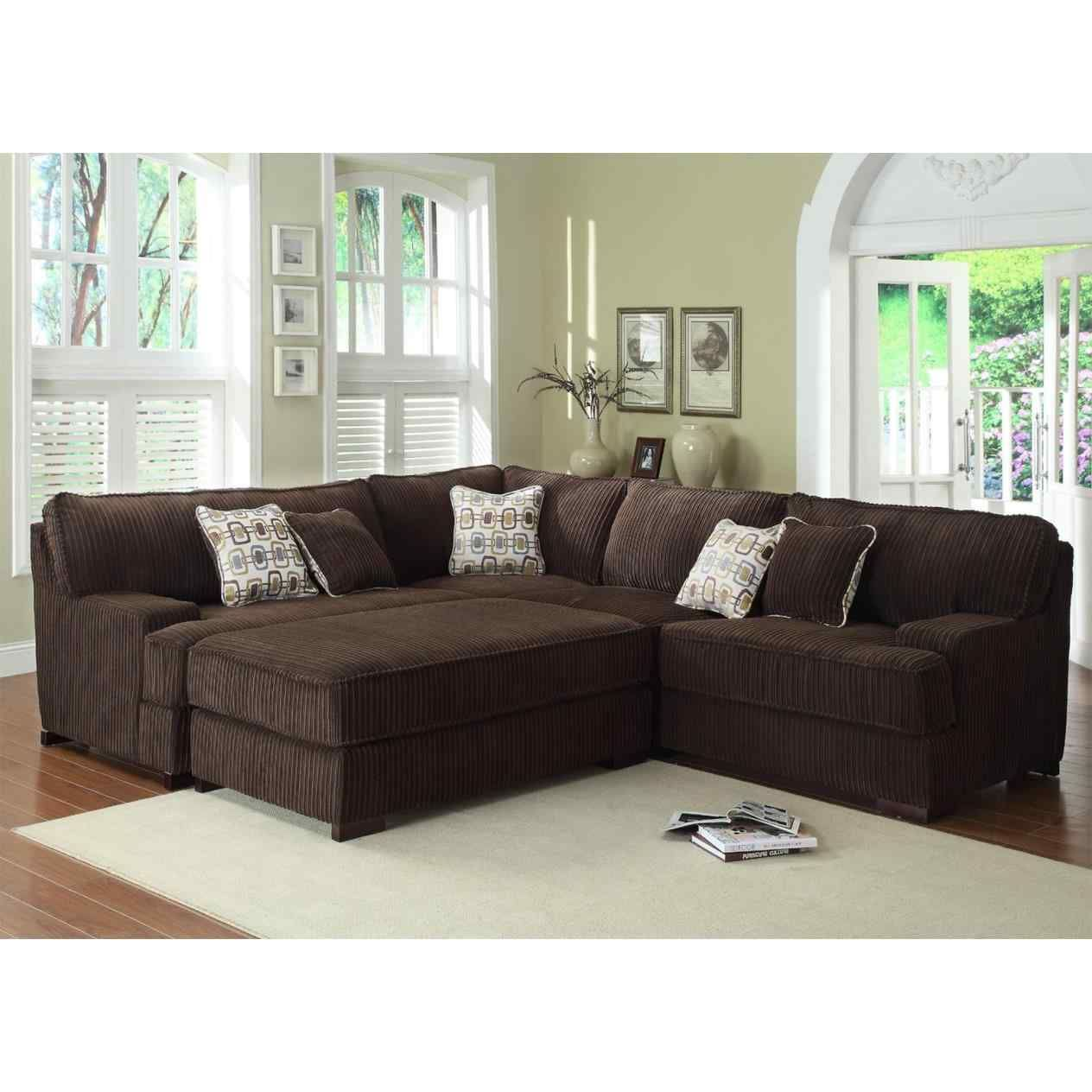 Incroyable Fine Coaster Chenille And Leather Sectional Sofa Find A Local Furniture  Store With Fine Living Room