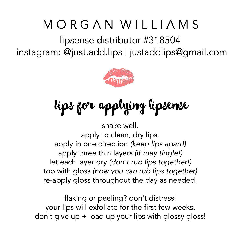 Tips For Applying Lipsense!