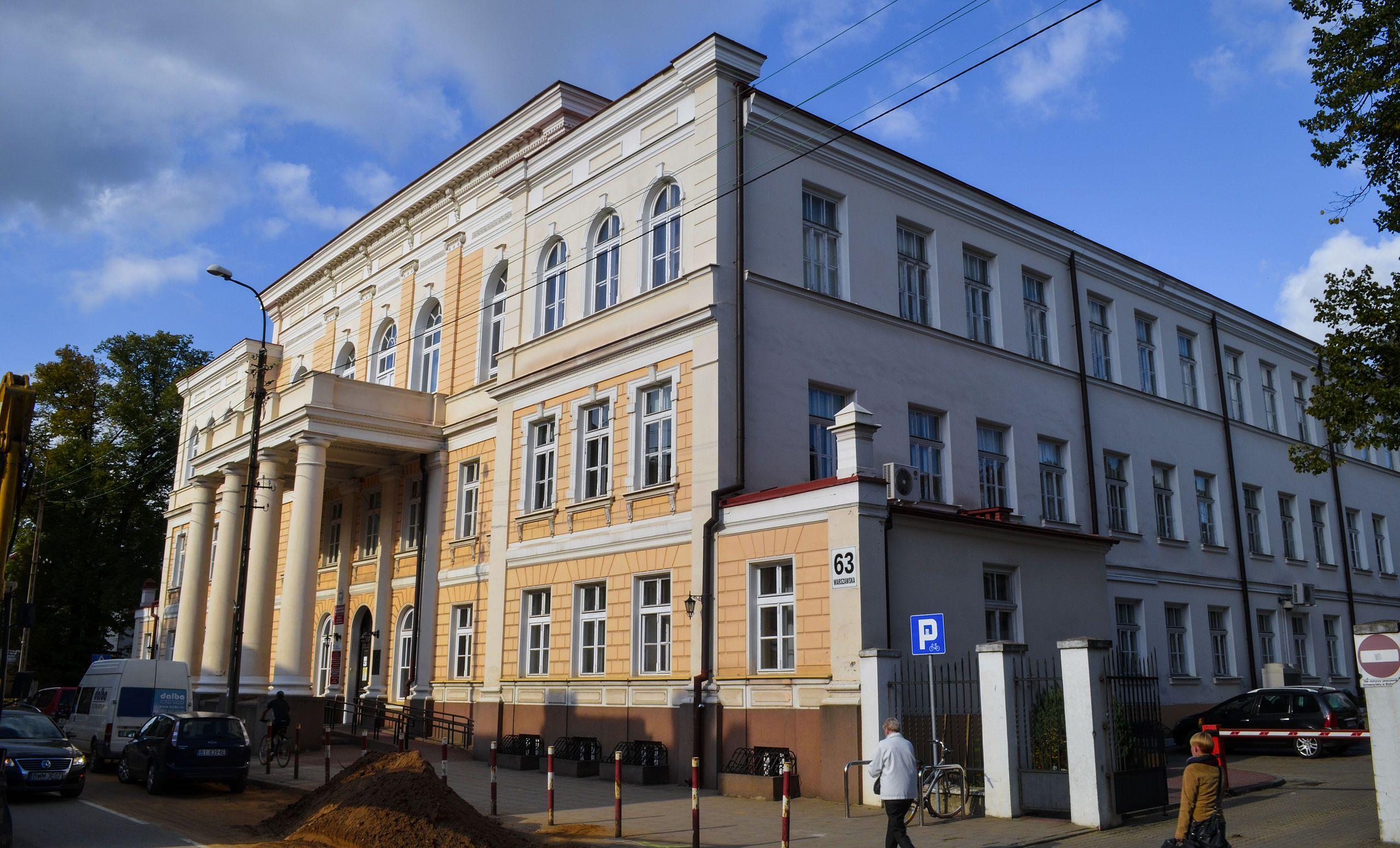 Wydział Ekonomii i Zarządzania UwB na ul. Warszawskiej 63