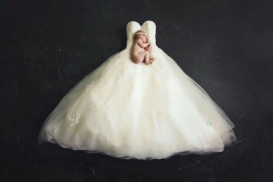 My Lovely Little Girl Suus On My Wedding Dress Baby