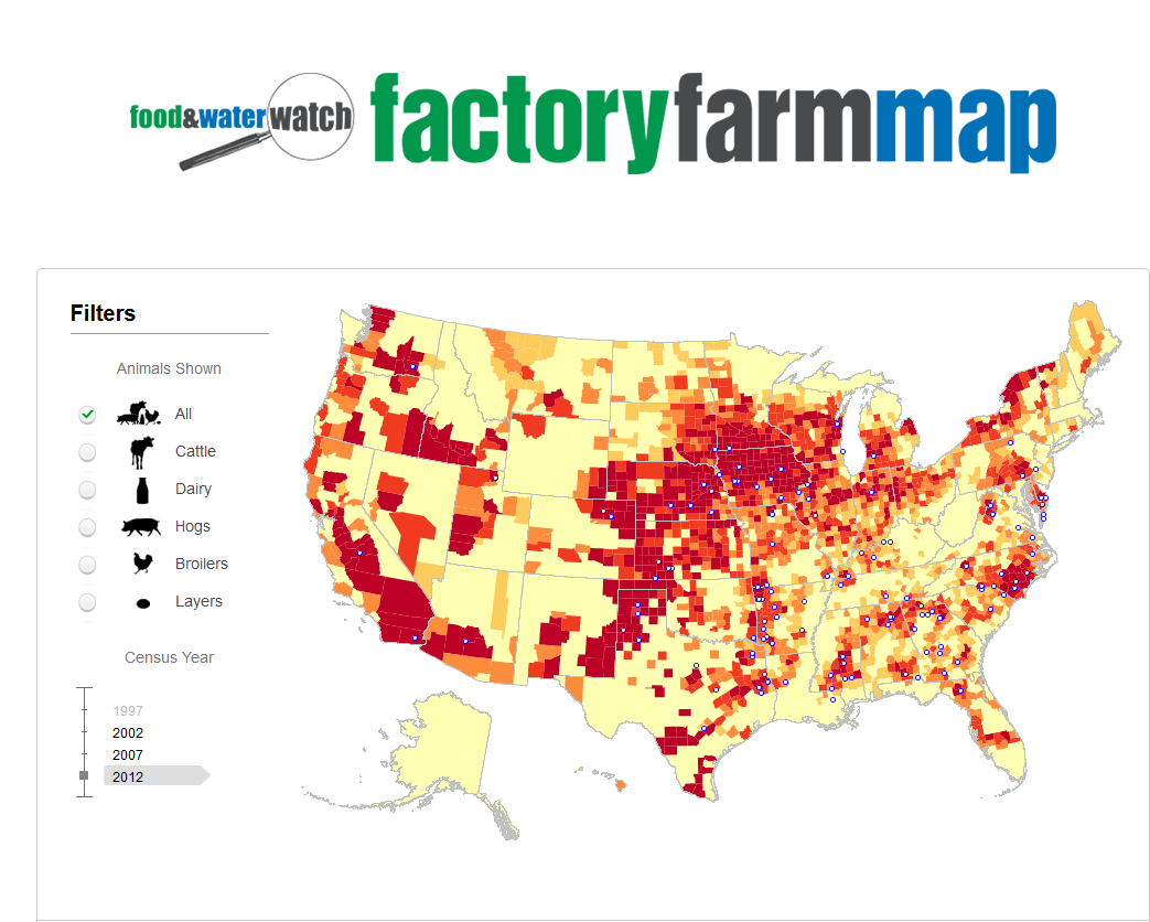 Factory farm map (With images) Factory farming, Cafo, Farm