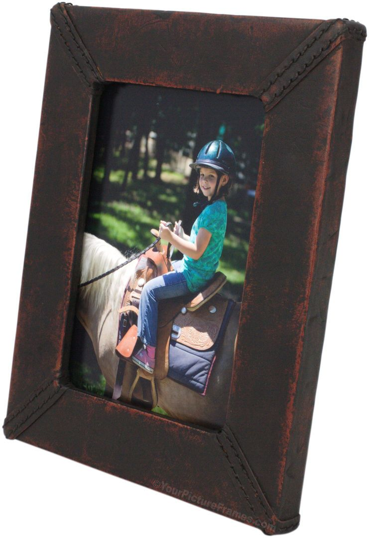 leather 5x7 photo frames | Durham Handmade Leather Picture Frame ...