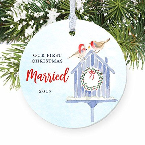 First Christmas Married 2017 Our 1st Xmas Ornament Wedding Gift For Husband Wife Mr An First Christmas Married Baby First Christmas Ornament First Christmas