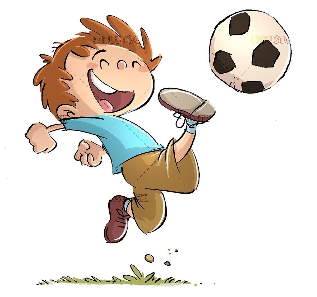 Boy Playing Soccer With Ball In 2020 Drawing For Kids Kids Playing Boys Playing