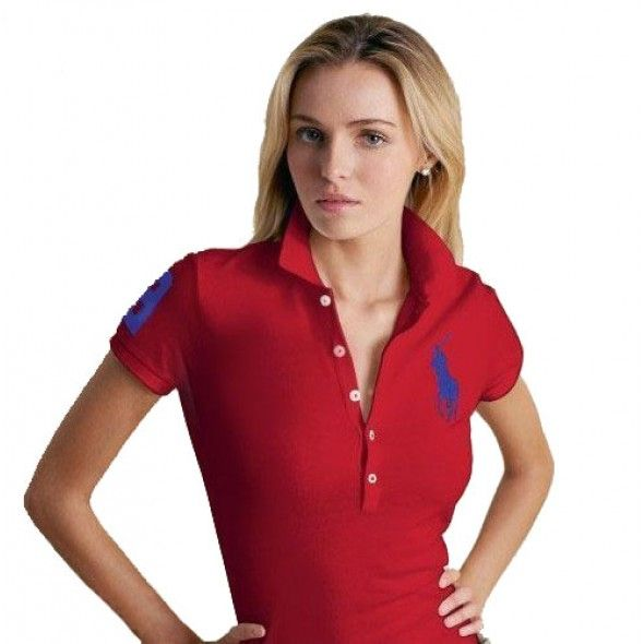 Ralph Lauren Big Blue Pony Breathable Red Short Sleeved Polo http://www.
