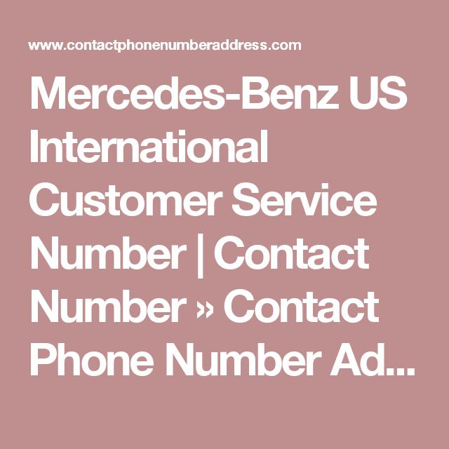 Mercedes Benz US International Customer Service Number | Contact Number » Contact  Phone Number Address
