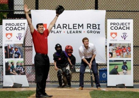 Prince Harry Hits Baseballs With Teixeira