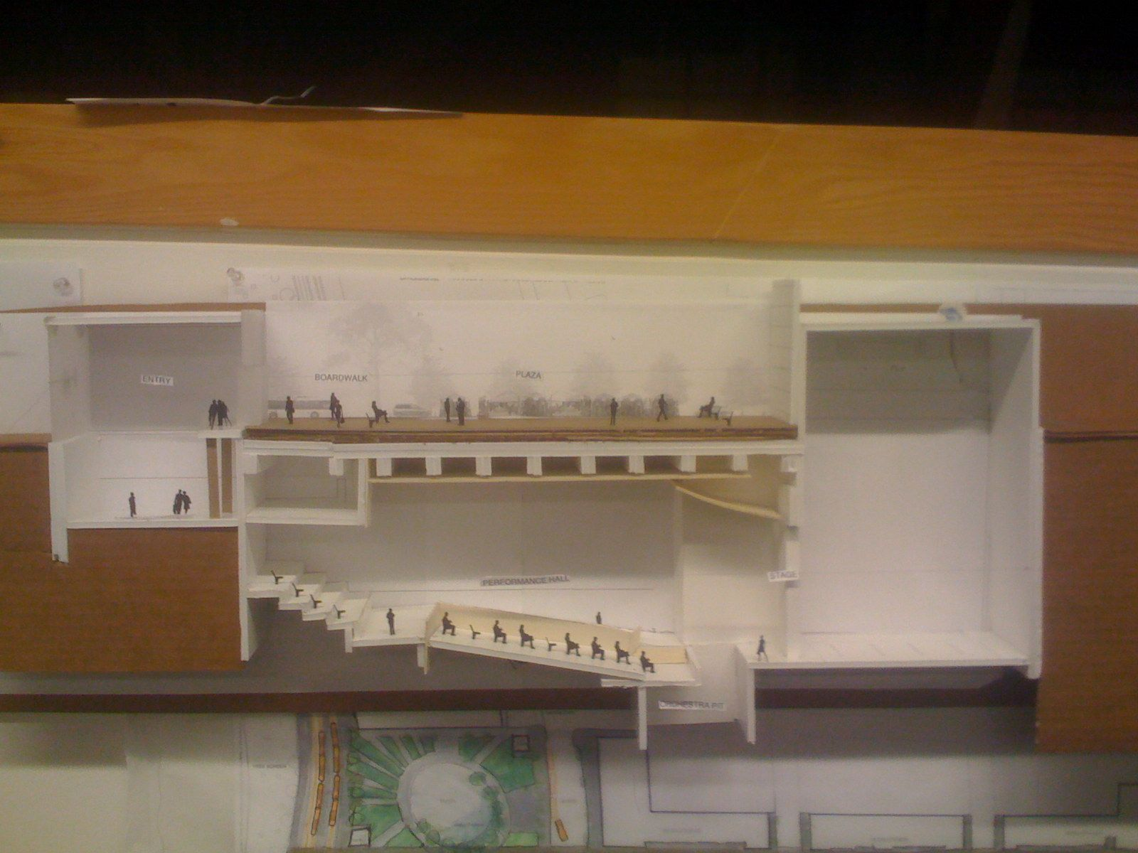 section model auditorium