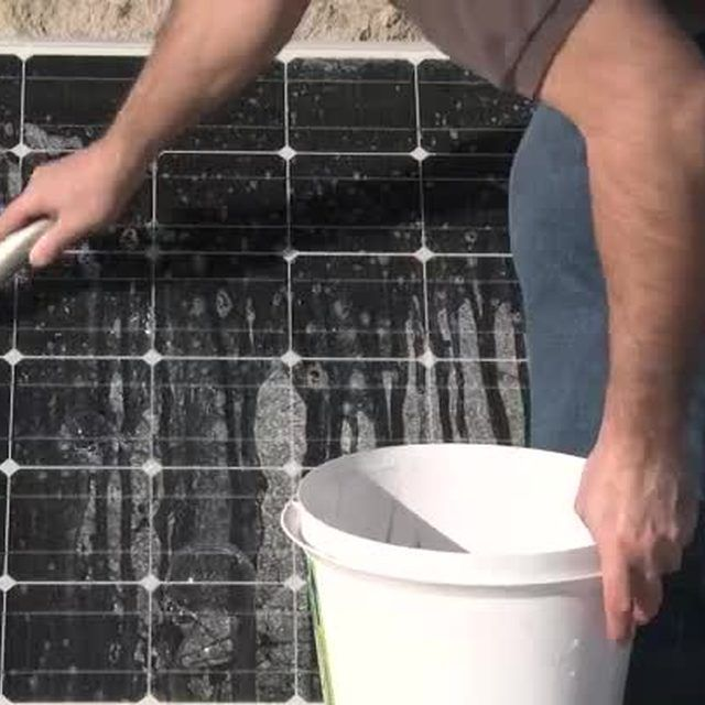 If you use a cleaner for your solar panels, make sure it isn't abrasive so you don't damage your panels.