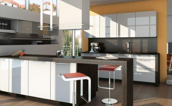 cuisine ixina avec hotte tr s bel endroit avec une peinture qui convient particuli rement bien. Black Bedroom Furniture Sets. Home Design Ideas