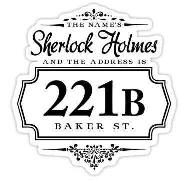 The names Sherlock Holmes Sticker by starrygazer