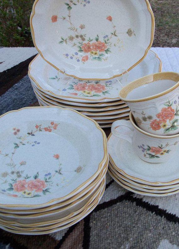 dishes set mikasa garden club dinnerware by
