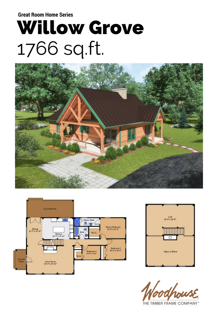 Timber Frame Great Room An Open Floor Plan With Large Family Kitchen And Harvest Table Flowing Int A Frame House Plans Bungalow House Design Cabin House Plans