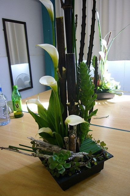 Images of oriental centerpieces bamboo callas asian