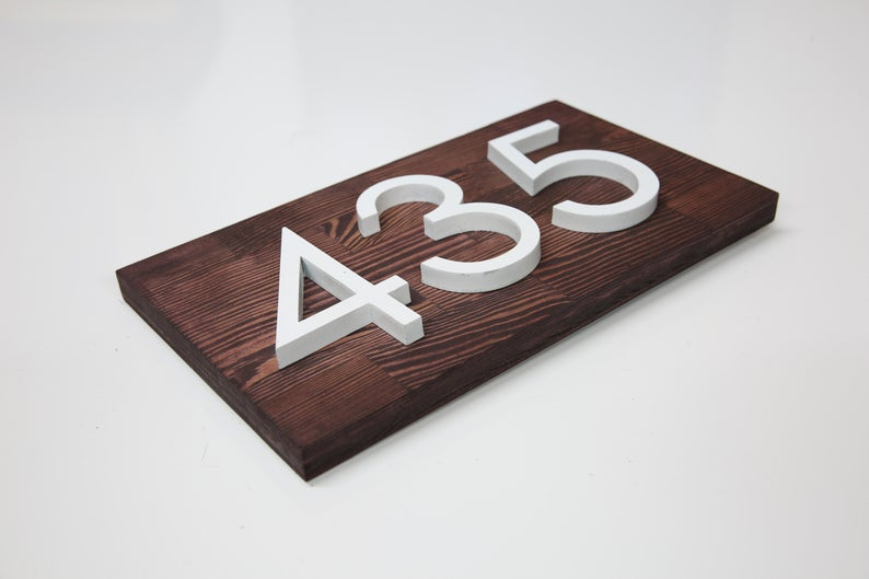 Pin On Horizontal House Number Plaques