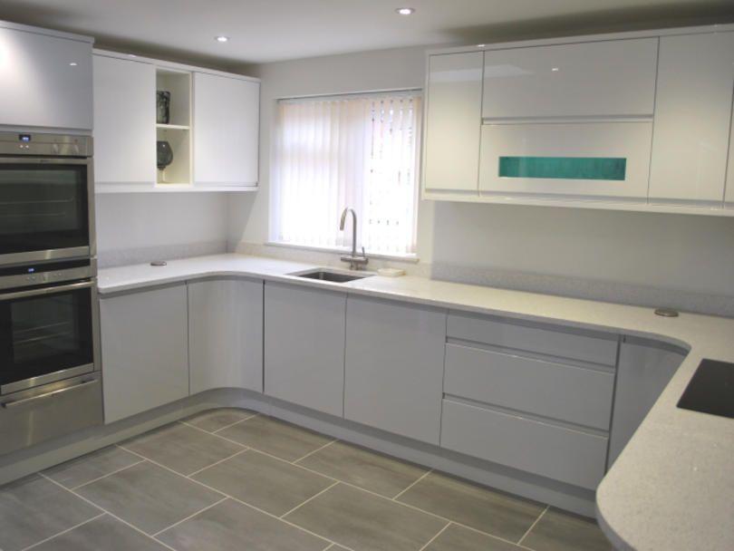 Best Finished Kitchen Kitchen Design Small Grey Gloss 400 x 300