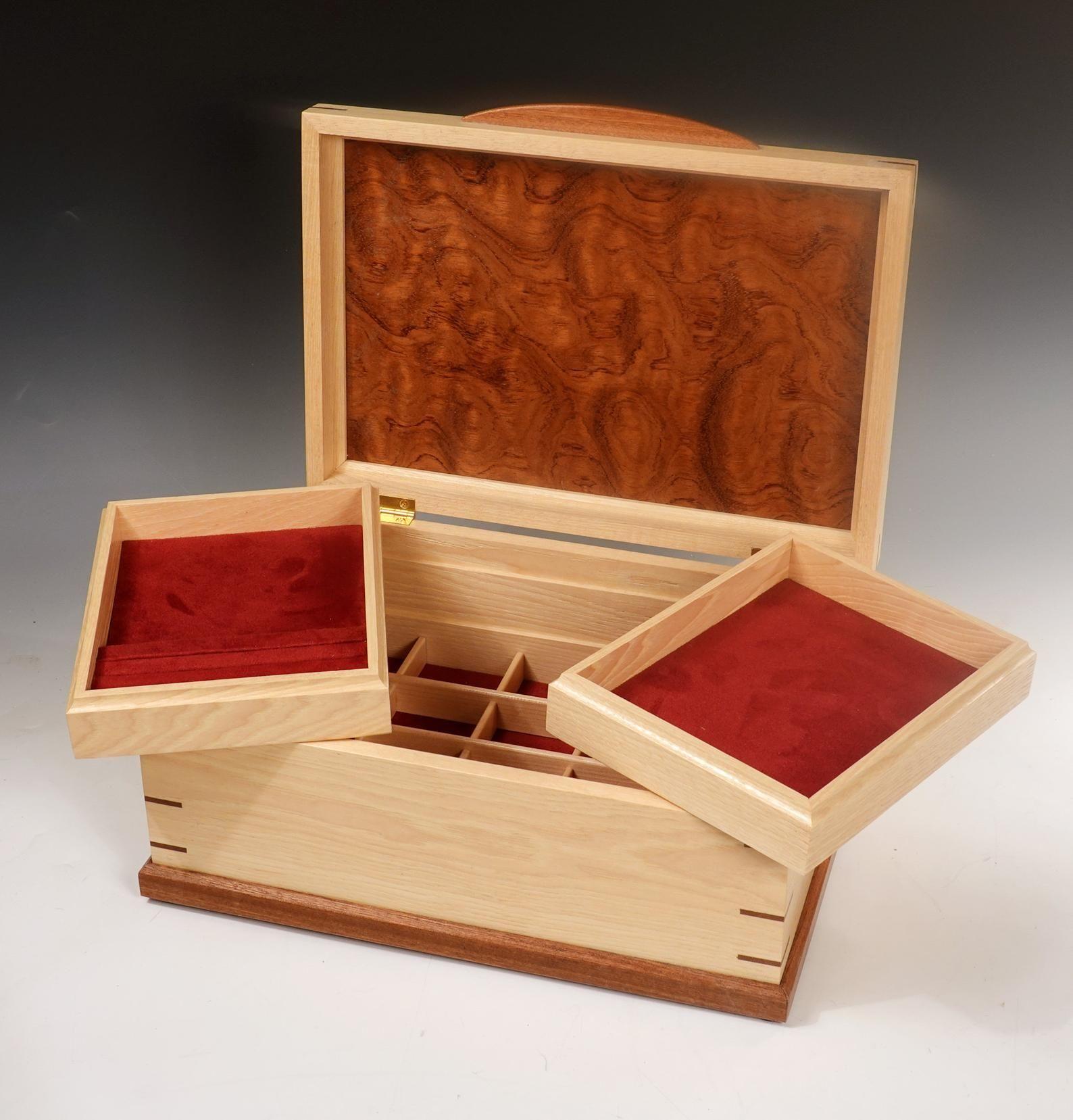 Custom Wood Jewelry Box Heirloom Quality Finely Crafted Etsy Wood Jewelry Box Wood Keepsake Box Wood Jewellery