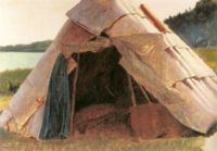 Eastman Johnson - Ojibwe Wigwam at Grand Portage - ebj - fig 22 pg 41 - First Nations - Wikipedia, the free encyclopedia