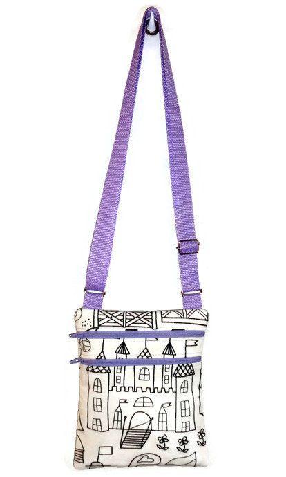 f61c4867e54d Coloring Bag - Color Me Bag - Sling Bag - Purse - Small Messenger ...