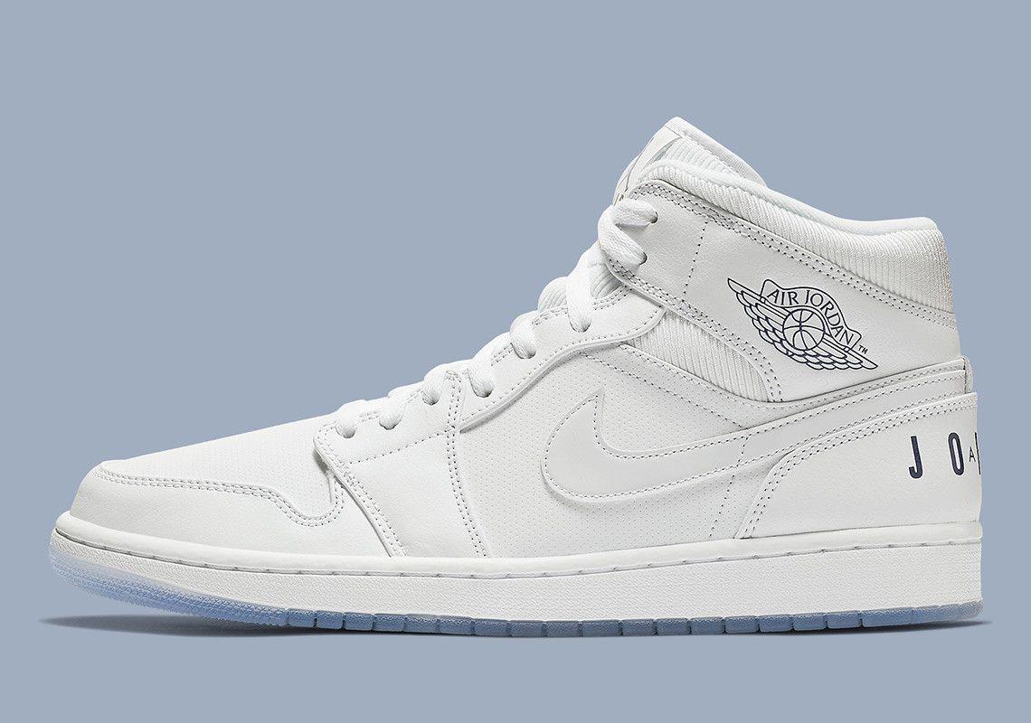bar lattuga intercambiabile  Air Jordan 1 Mid Pure White BQ6578-100 | SneakerNews.com | Air jordans,  Jordan 1 mid, Basketball shoes for men