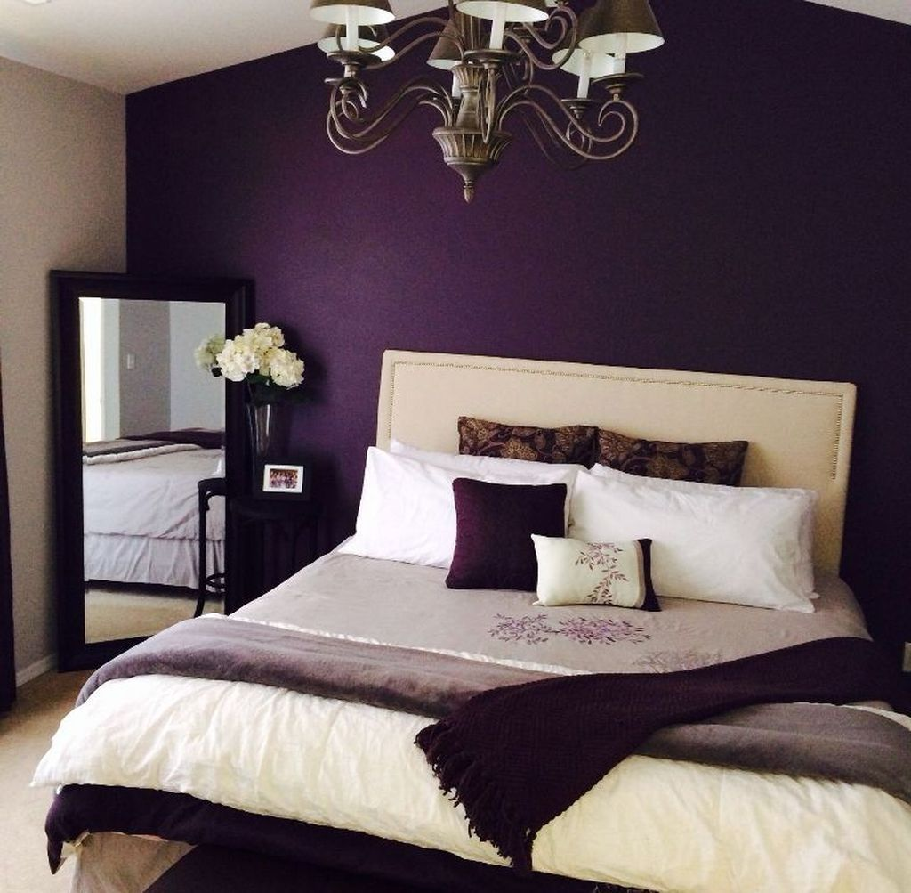50 Creative Wall Color Bedroom Design And Decoration Ideas With Images Purple Bedroom Design Romantic Bedroom Design