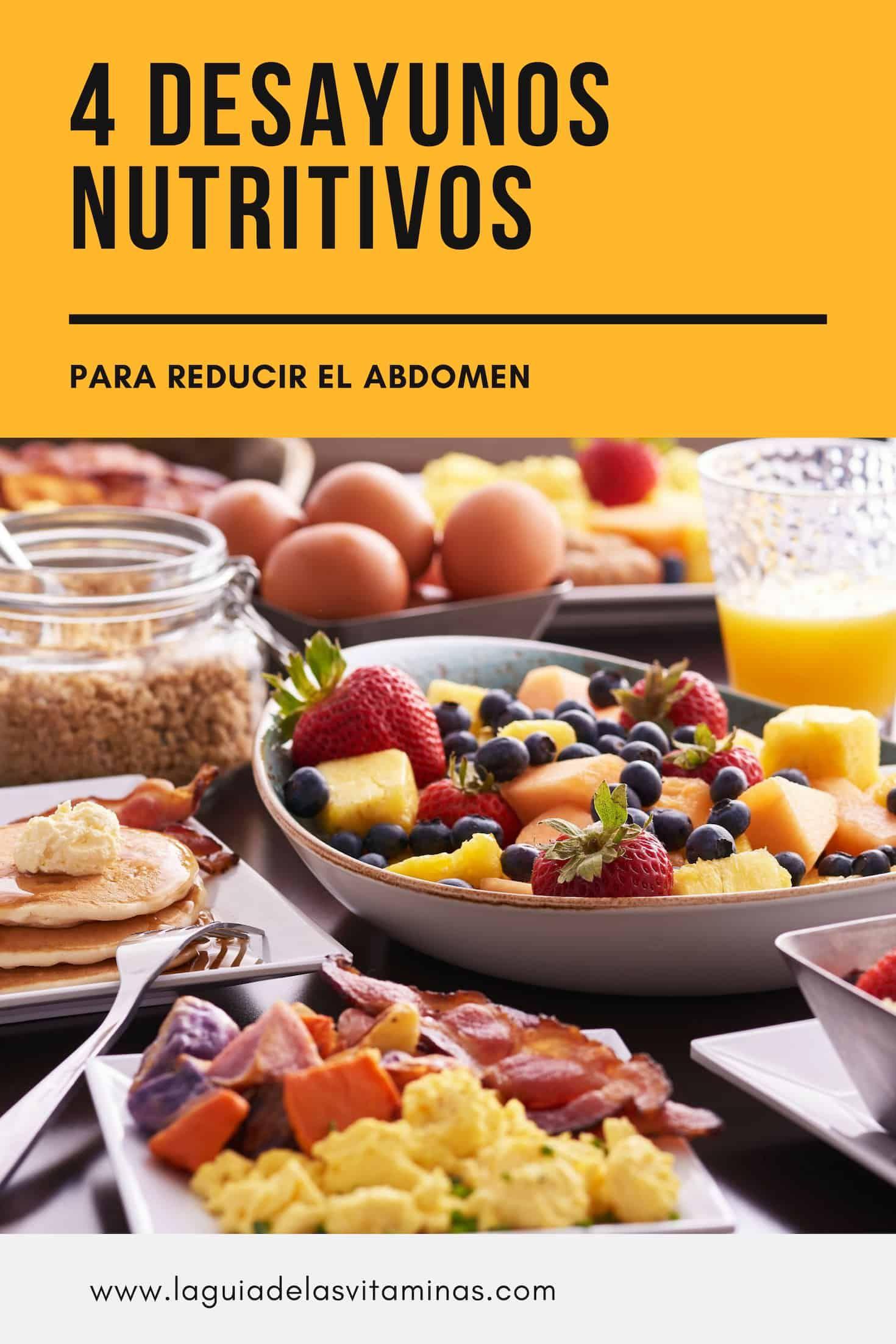 Desayunos para adelgazar abdomen