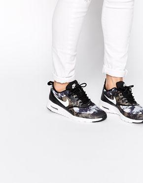 womens nike air max thea stampa Nike - Thea - Scarpe da ginnastica nero con stampa (avec images ...
