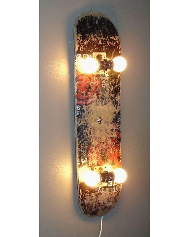 Skateboard Lamp skateboard lampj dooley 😍 --- via @homeadore --- #homeadore