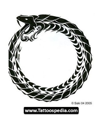 Ouroboros tattoos designs 08 tattoos pinterest for Snake eating itself tattoo