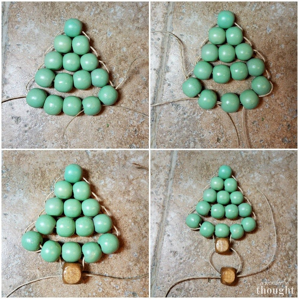 Photo of DIY Ornament | Wooden Bead Christmas Tree – A Wonderful Thought
