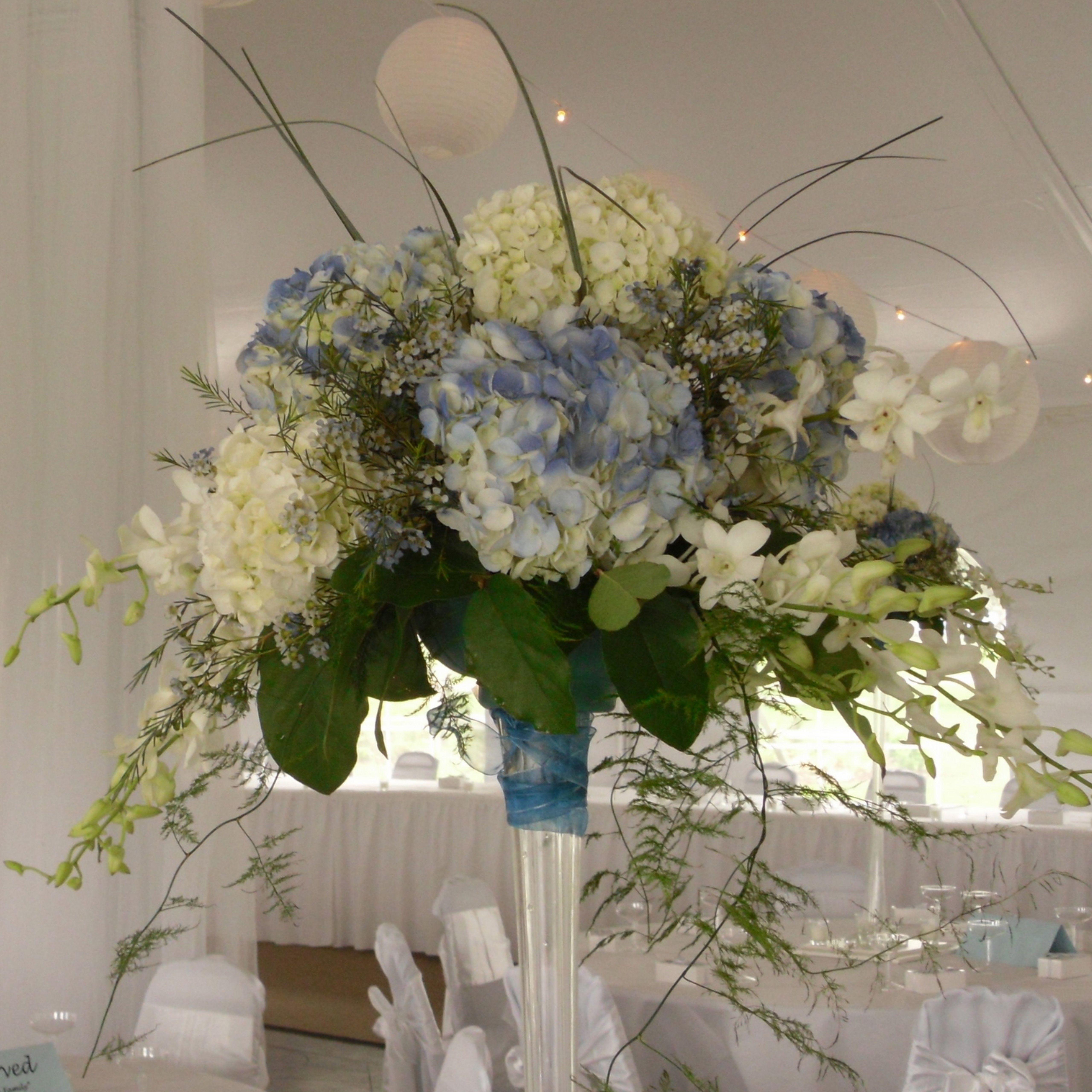 Hydrangea Macrophylla Wedding Gown: Hydrangeas & Orchids