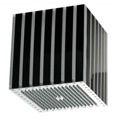 Bossini Lumiere Quadro 300 x 300mm Black Translucent Vertical Stripe Finish Chrome