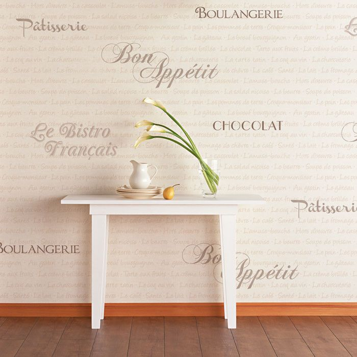 French Bistro Lettering Stencil Set | French bistro, Wall decor and ...