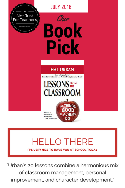 Our Book Pick For The Month Is Lessons From Classroom 20 Things Good Teachers