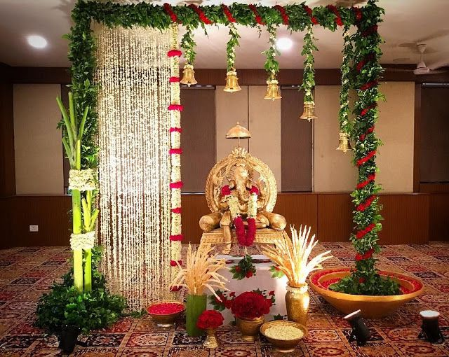 27 Best Trending Ganesh Chaturthi Decoration Ideas For Home 2019