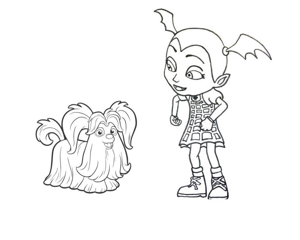 vampirina coloring pages free printable