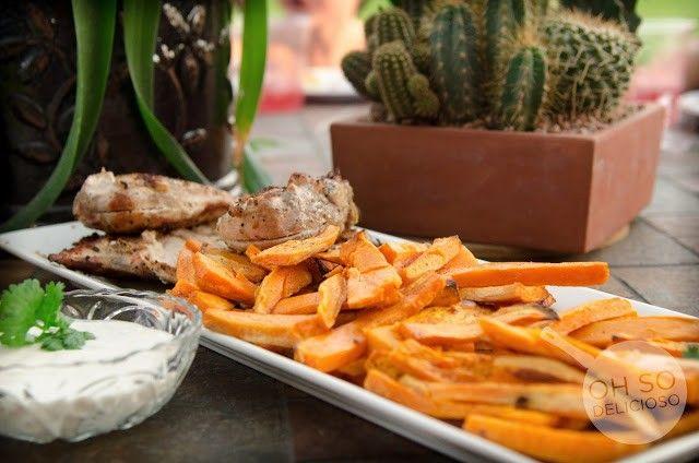 Sweet #Potato Fries & #Cilantro Lime Dipping Sauce