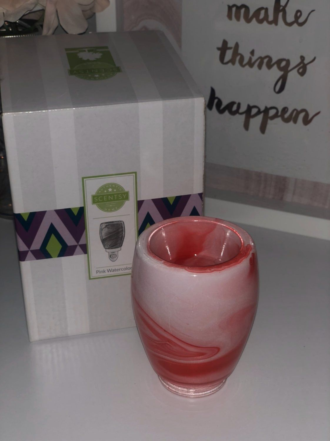 Pink Water Color Scentsy Warmer Scentsy Home Fragrance In 2019