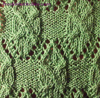 Envelope knitting stitches | Dos agujas: motivos | Pinterest ...