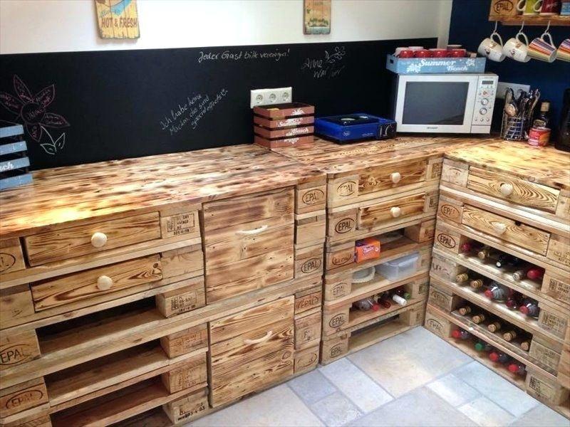 42 Diy Pallet Kitchen Furniture Ideas Pallet Kitchen Pallet Diy Kitchen Furniture