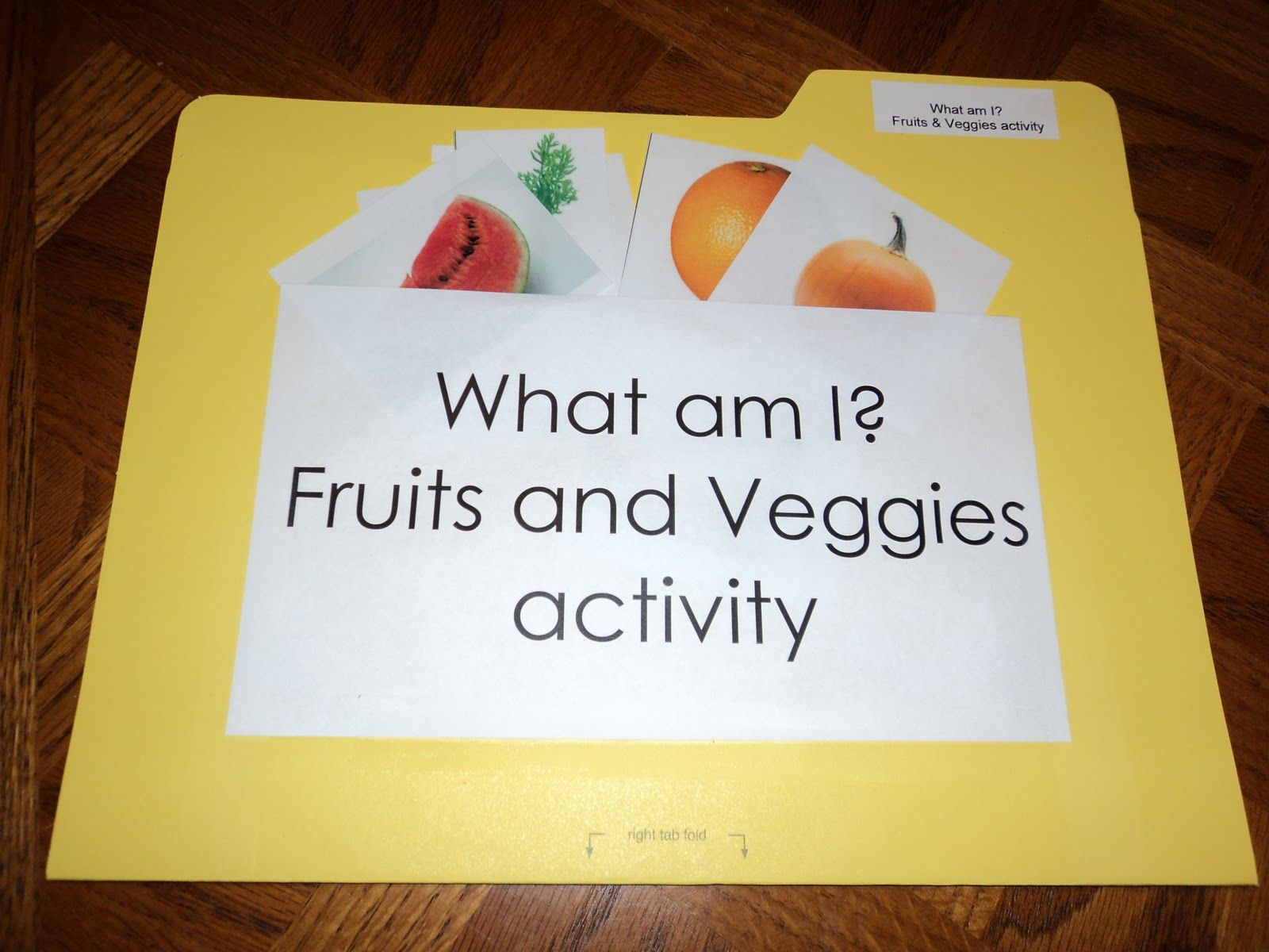Early Learning With Marta And Eaton Fruit Or Veggie More Preschool File Folder Games