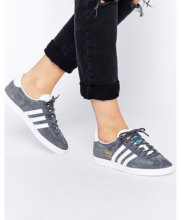half off 4068a 853a6 Womens Adidas Gazelle Original Grey Trainer