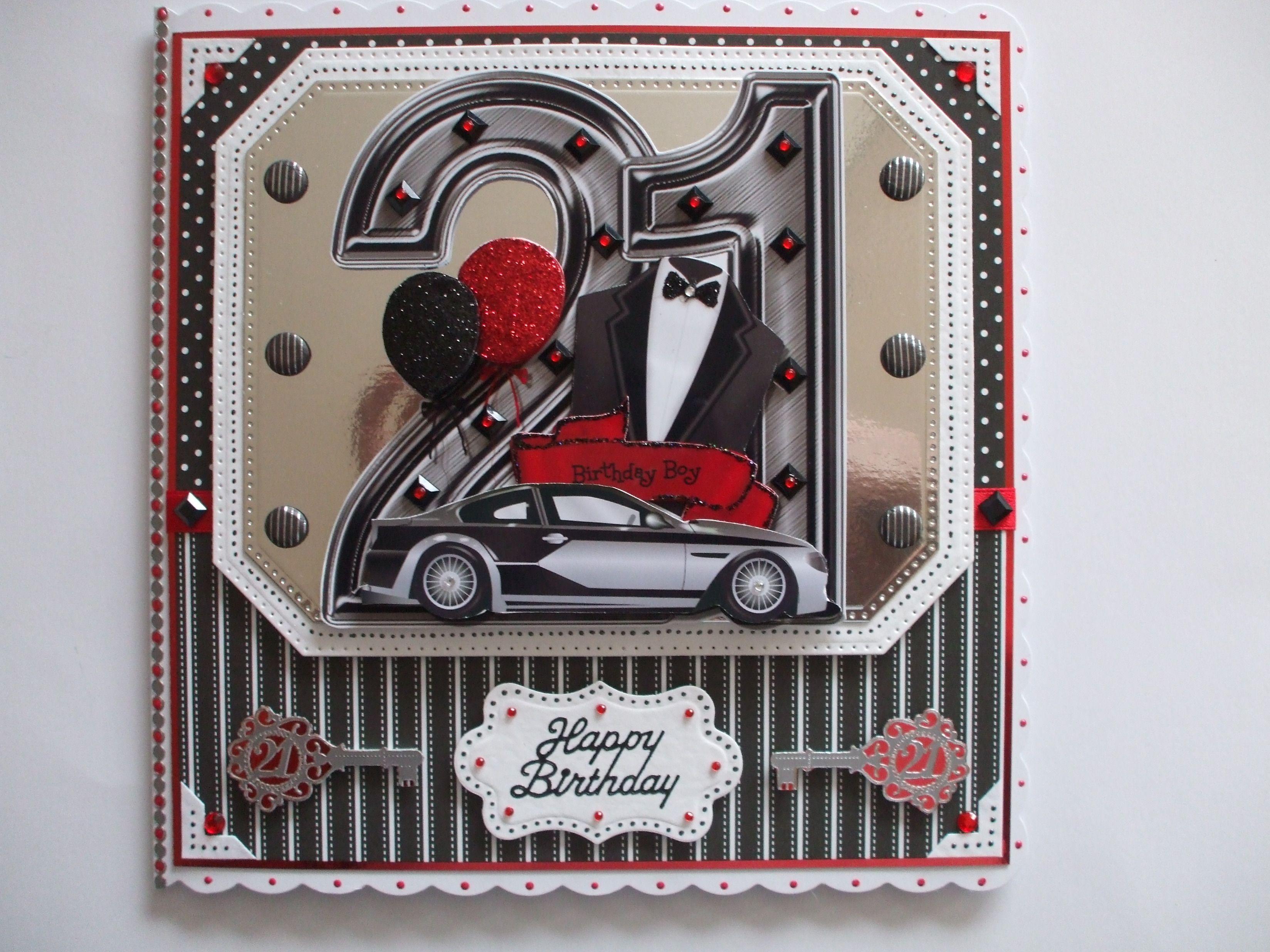 Handmade 21st Birthday Card For Male Cards Pinterest