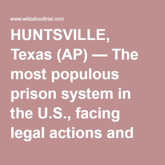 HUNTSVILLE, Texas (AP) — The most populous prison system in the U.S., facing legal actions and criticism about inmates having to endure oppressive Texas summer heat, is looking to make conditions a bit more bearable at seven locations by installing basic cooling systems. Texas Department of Criminal Justice officials insist the new devices are not in response to numerous lawsuits alleging that high temperatures inside prison buildings are improperly cruel punishment and have led to inmates'…