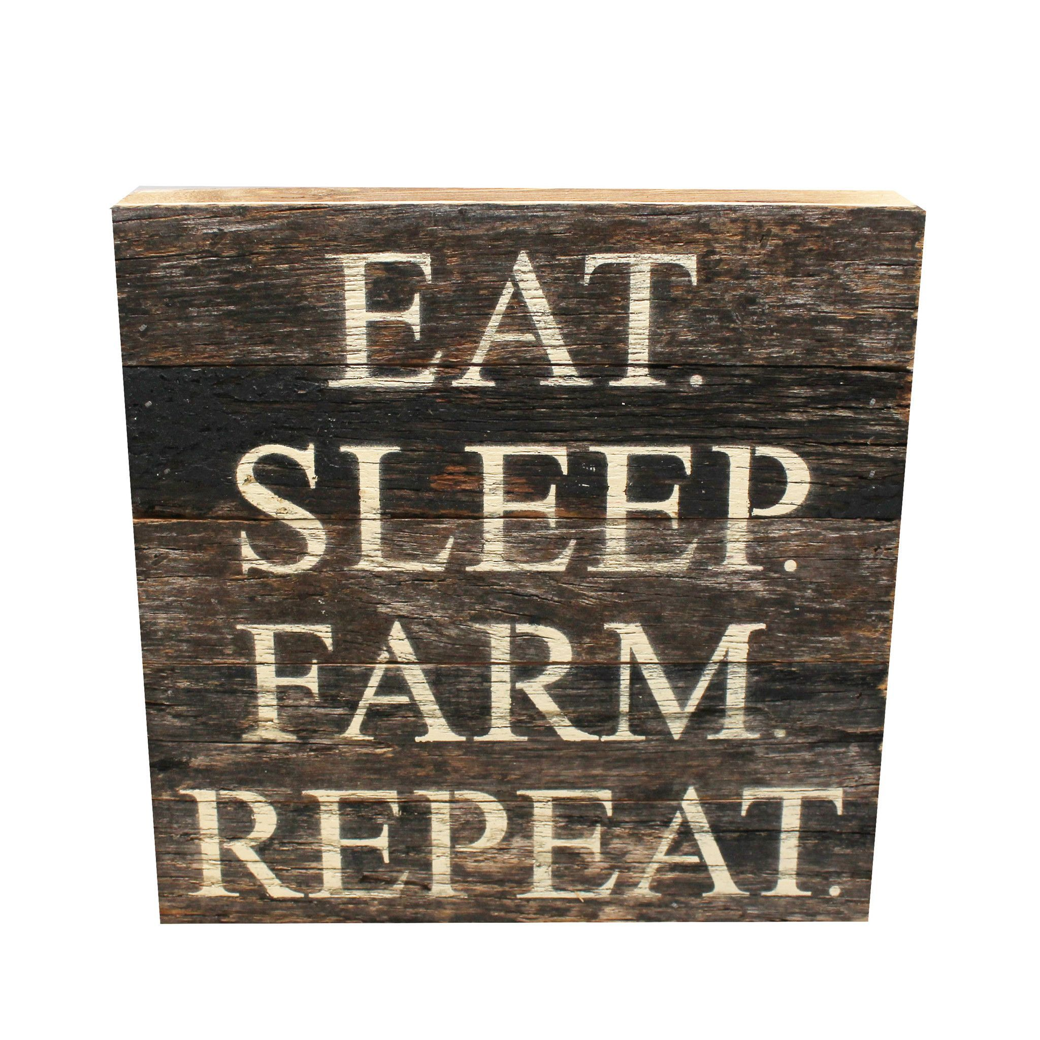 Primitive stencil home sweet home 12x12 for painting signs crafts - Eat Sleep Farm Wooden Sign