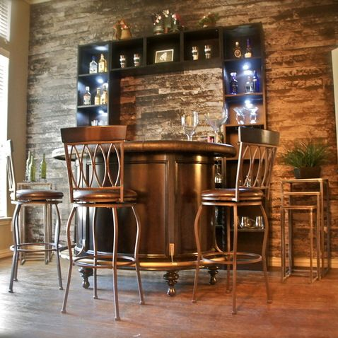 Dining Room Turned Into A Bachelors Home Bar